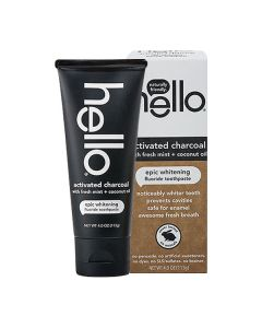 hello Activated Charcoal Epic Whitening Fluoride Toothpaste