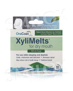 OraCoat XyliMelts for Dry Mouth - Mint Free